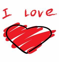 stylized heart symbol vector image