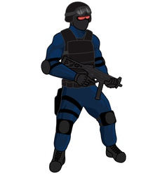 Swat team member preview ump blue vector