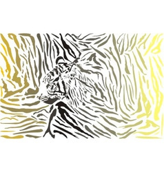 tiger camouflage background with head vector image