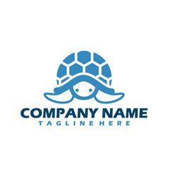 Turtle symbols business logo wild sea animals vector
