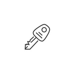 urban and city element icon - apartment key in vector image