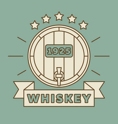 whiskey logo design - vintage whisky label vector image