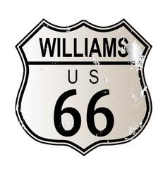 Williams route 66 vector