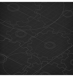 Blueprint of cogwheels Technology abstract vector image