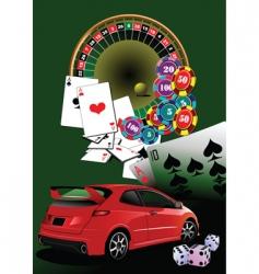 casino elements vector image