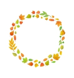 Cute leaves arranged in ring shape isolated on vector image vector image