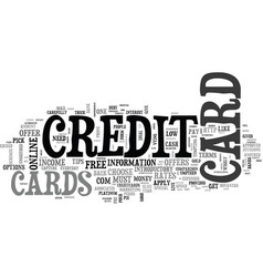 essential tips on how to get a credit card text vector image vector image