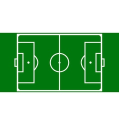 football pitch layout vector image vector image