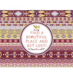 Hipster seamless colorful aztec pattern vector image
