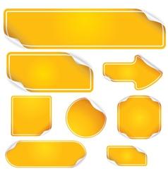 orange labels vector image vector image