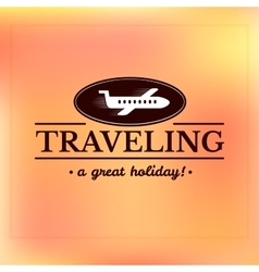 Travel logo label typography design vector image