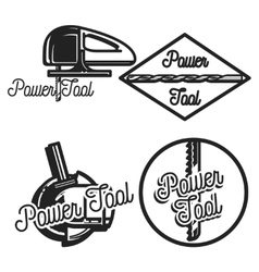 Vintage power tools store emblems vector image