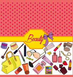 beauty background vector image vector image