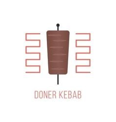 doner kebab logo isolated on white background vector image vector image