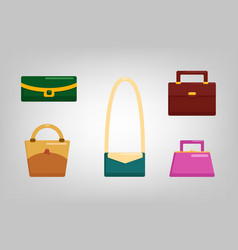 flat bags vector image vector image