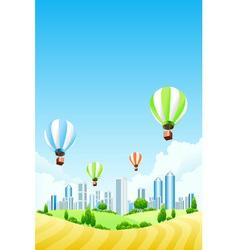hot air ballooning vector image vector image