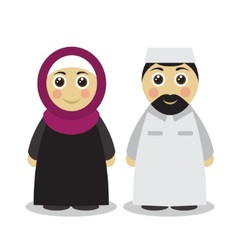 Muslim couple man and woman vector image vector image