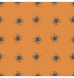 Poisonous Spider Seamless Pattern vector image