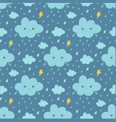 rainy weather seamless pattern background vector image vector image