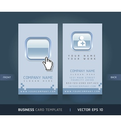 Business card blue buttons style vector image vector image
