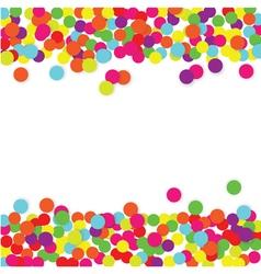 Colorful Confetti Frame vector image