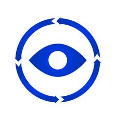 eye turn icon vector image