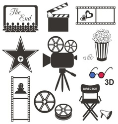 Movie icons vector image