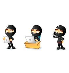 Ninja 3 vector image vector image