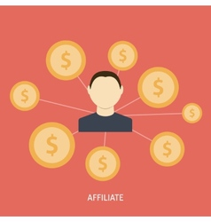Affiliate Icon Flat vector image vector image