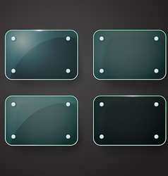 Different glass advertising board Template for a vector image vector image