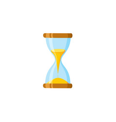 flat vintage sandglass hourglass icon vector image