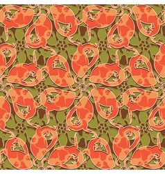 lizards floral vector image vector image