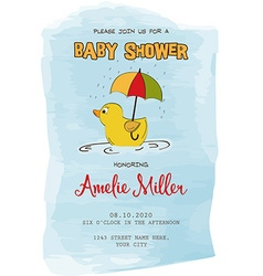 Lovely baby shower card vector image