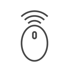 Wireless Computer Mouse Line Icon vector image