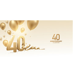 40th anniversary celebration background vector image
