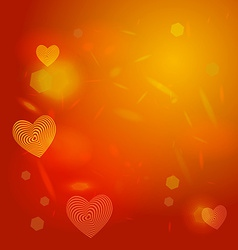 Abstract red background light glare Heart vector