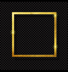 abstract shiny golden frame luxury on transpare vector image