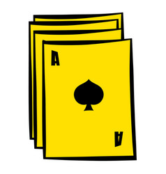 Ace of spades playing card icon in icon cartoon vector