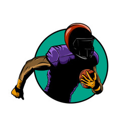 american football player super bowl sport theme vector image