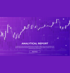 Analytical report background with charts vector