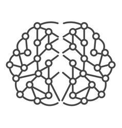 Artificial brain icon outline style vector