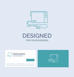 Audio card external interface sound business logo vector