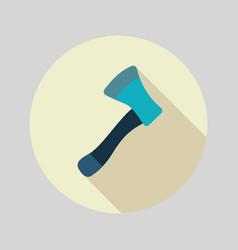Axe ax hatchet flat icon vector