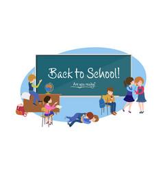 Back to school cartoon poster vector