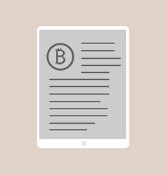Bitcoin trading design vector