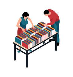 Book fair icon vector