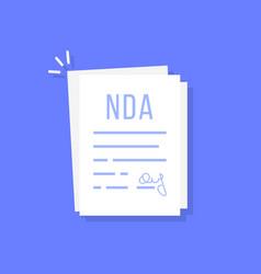 Cartoon non-disclosure agreement doc vector