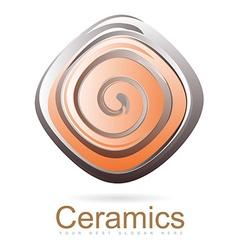 Ceramics logo vector image