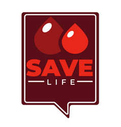 charity blood donation isolated icon hourglass and vector image