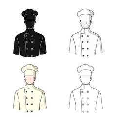 chefprofessions single icon in cartoon style vector image vector image